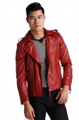 Fashion Men's Slim Top Designed Sexy Synthetic Leather Short Jacket Coat