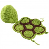 Born Baby Tortoise Hat Infant Knit Sweater Crochet Photography Prop Hat Outfit