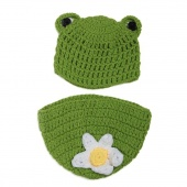 Born Boy Girl Baby Cute Crochet Knit Frog Costume Photography Photo Prop Hat Outfit