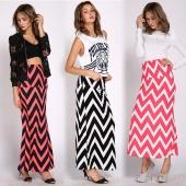 Long Foldover High Waisted Elegant Maxi Skirt