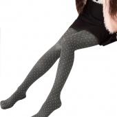 Women Skinny Polka Dot Warm Sexy Tights Velvet Seamless Pantyhose Winter Collant Velvet Pants