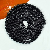 140pcs 6mm Pretty Black Faux Glass round Pearl Loose Beads