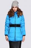 Women's Winter Warm Fur Collar Coat Long Thickening Down Jacket with Belt