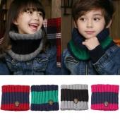 Kid Children Toddler Boy Girl Knitted Winter Warmer Scarf Snood