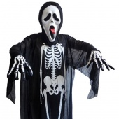Adults Unisex Gauze Halloween Costume Skeletons Skull Clothes Dress for Costume Ball Dress Up