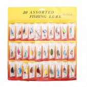 Lot 30pcs Fishing Lures Spinner Baits Crankbait Assorted Fish Tackle Hooks