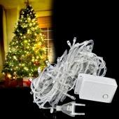 10M 100 LED White Lights Decorative Christmas Party Twinkle String EU Plug