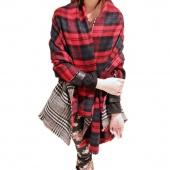 Fashion 190x58cm Warm Big Winter Scarf Women Elegant Grid Pattern Thick Scarf Winter Collars