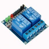 1 PCS 5V 2-Channel Relay Module for Arduino PIC ARM DSP AVR Electronic