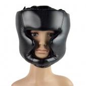 Headgear Head Guard Training Helmet Kick Boxing Protection Gear Black