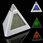 7 LED Color Digital LCD Alarm Clock Thermometer