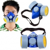 Twin Cartridge Respirator Gas Mask Safety Anti-Dust Chemical Spray Paint