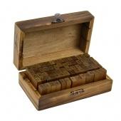 70pcs Rubber Stamps Set Vintage Wooden Box Case Alphabet Letters Number Craft