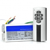 Wireless 4 Channel Light ON/OFF 220V-240V Remote Control Switch+ Transmitter