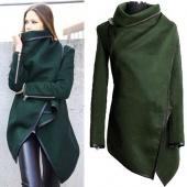 Fashion Women's Women Winter Coats Trench Woolen Long Sleeve Jacket Irregular Cloak