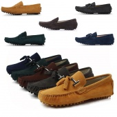 """Men""""s Synthetic Leather Casual Slip on Loafer Shoes Moccasins Driving Shoes"""