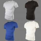 Mens Sport Compression under Base Layers Tops Shirts 4 Colors 5Sizes