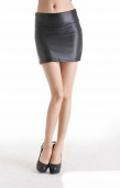 Fashion Women High Waisted Bodycon Faux Leather Casual Short Mini Skirt