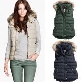 Women's Warm Hooded Gilet Ladies Jacket Padded Coat Vest Waistcoat Coat