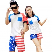 Women's/Men's Sport Feel Flag Beach Swimming Trunks Shorts Slim Pants Swimwears