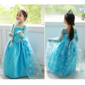 Baby Fashion Blue Dress Girls Long Sleeve Dress Spring Autumn Party Fancy Dress Clothing