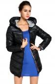 Women's Lady Hot-selling Winter Cotton-padded Jacket Slim Medium-long Wadded Coat