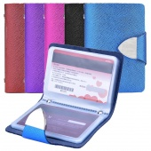 Synthetic Leather Business Case Wallet ID Credit Card Holder Purse for 26 Cards