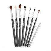 8pcs Basic Makeup Brush Eye Brushes Set Blend Eye Shadow Angled Eyeliner Smoked