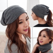 Unisex Cotton Blend Hip Hop Ring Warm Beanie Cap Winter Autumn Women Knitted Hats Men Beanies