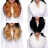 Fashion Women's Faux Fur Collar Raccoon Fur Scarf Shawl Collar Scarves