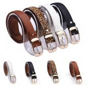 Fashion Women's Faux Leather Metal Buckle Belts Girls Fashion Accessories
