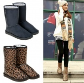 Women Fashion Winter Warm Middle Long Snow Boots Shoes