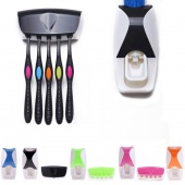 Fashion Practical Automatic Toothpaste Dispenser + Toothbrush Holder