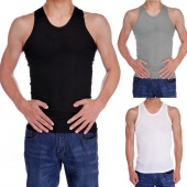 Men's Sleeveless High Elasticity Bodycon Undershirt Soft Vest