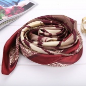 Stylish New Women's Ladies Stripe Pattern Soft Comfy Satin Square Scarf Shawl