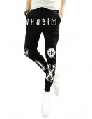 Men's New Fashion Printed Casual Harem Sweat Pants Jogger Dance Slacks Trousers