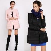 Women Nip Waist Lady Puff Cotton Padded Coat Down Jacket