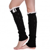 Women Lady Girls Knitted Thigh-High Sock Knitted Boot Sock Leg Warmers