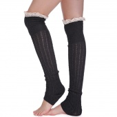 Fashion Women Lady Girls Knitted over Thigh-High Sock Knitted Boot Sock Leg Warmers