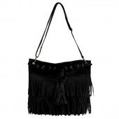 Fashion Women's Faux Suede Fringe Tassels Cross-body Bag Shoulder Bag Handbags