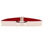 Fashion Women's Sequined Elastic Belts Metal Belt