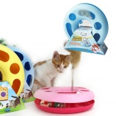 Creative Multifunctional Funny Training Disk Toy Cat Pet Circle Spring Toy
