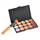 15 Color Camouflage Concealer Make Up Cream Palette with Brush