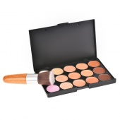 Women's Makeup Cosmetics Tools Set 15 Colors Creamy Concealer Kit And 1 Brush