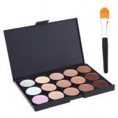 Professional 15 Color Camouflage Concealer Make Up Cream Palette with Brush