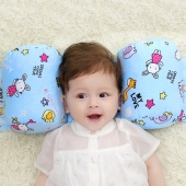 Comfortable Safe Baby Infant Bedding Anti Roll Pillow Sleep Head Positioner