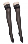 Lady Women's Sexy Slim Lace Thigh High Socks Long Silk Stockings