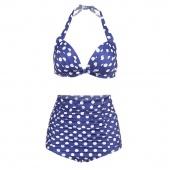 Plus Size High Waist Halter Bikini Set Swimsuit Bathing Suit Push Up 2 Pcs Set Sexy Swimwear