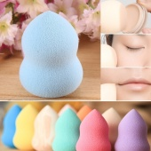 Lovely Cute Waterdrop Beauty Makeup Cosmetic Cotton Soft Sponge Egg Cleaner Face Power Puff Calabash Shape