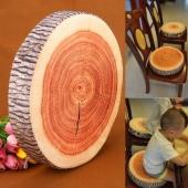Fashion Tree Ring Pillow Saddle Soft Plush round Pillow Home Birthday Gift